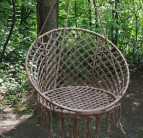 Самодельное кресло-гамак для дачи своими руками