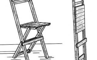 Складной стул для дачи и балкона своими руками (чертежи, схемы, фото)