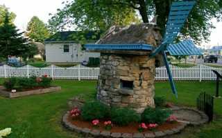 Декоративная мельница для садового участка