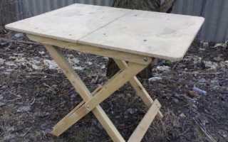 Как сделать складной стол на кухне своими руками