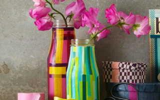 Декор веревкой вазочки для интерьера в этническом стиле