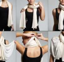 Способы как завязывать шарф, шейный платок, палантин, шаль