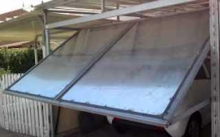Подъемная створка ворот гаража своими руками