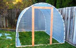 Сооружаем теплицу из сетки и пленки на своей даче