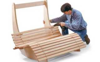 Кровать-качалка для отдыха из фанеры своими руками