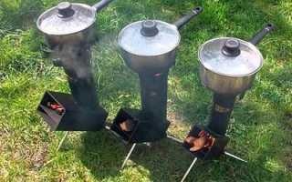 Походная печка своими руками: фото, размеры и описание конструкции