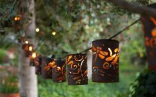 Садовые светильники оригинальные идеи для декора сада