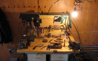 Складной верстак своими руками в домашнюю мастерскую