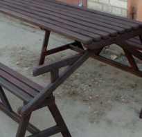 3 в 1. Стол и две лавочки своими руками для отдыха на дачу! (фото, чертежи)