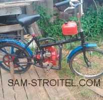 Велосипед с мотором от бензопилы «Дружба»