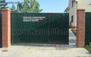 Автоматические ворота своими руками — 115 фото постройки распашных и откатных ворот