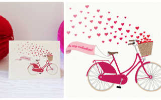 Открытка-валентинка к Дню Святого Валентина на 14 февраля своими руками