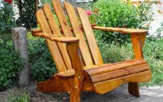 Простое и красивое садовое кресло из досок своими руками на свою любимую дачу