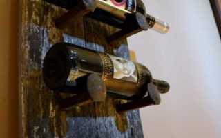 Оригинальная подвесная полка для вина и бокалов своими руками