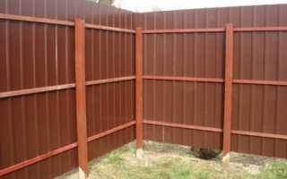 Делаем забор для дачи из профлиста своими руками