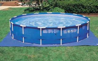 Пошаговый монтаж каркасного бассейна на даче