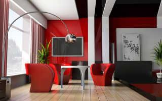 Лоджия в красно-черных тонах (фото, идея дизайна)