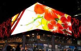 Светодиодные экраны незаменимы в эффективной наружной рекламе