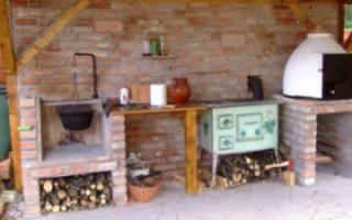 Уличная печь под казан для дачи: сделано своими руками