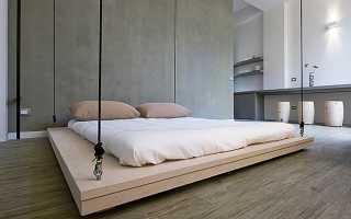 Оригинальная подвесная кровать своими руками (фото, пошагово, суперидея)