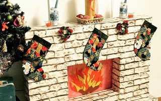 Искусственный камин своими руками к Рождеству и Новому году