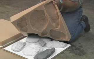 Изготовление искусственного камня из гипса: фото
