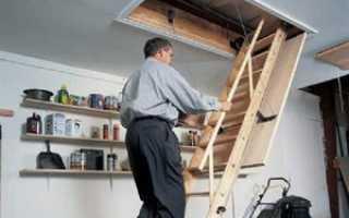 Самодельная складная чердачная лестница
