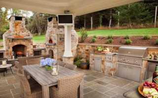 Летняя кухня для дачи с печным комплексом