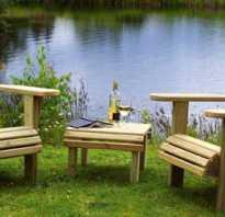 2 садовых кресла Адирондак и столик — все своими руками
