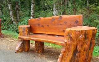 Как сделать деревянную скамейку: фото, чертежи