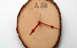 Простые, стильные и оригинальные часы своими руками