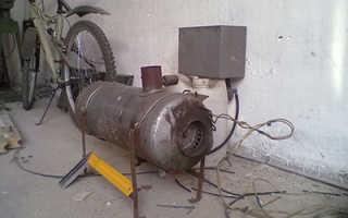 Печка в гараж своими руками: схема, фото и описание изготовления