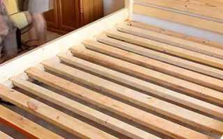 Самодельная кровать из массива лиственницы