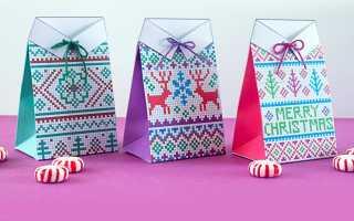 Новогодние подарочные коробочки своими руками (шаблоны)