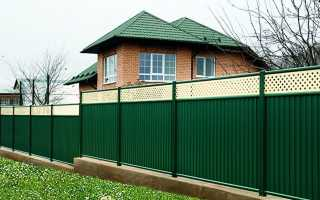 Как можно легко поставить забор из профнастила самостоятельно?