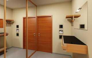 Самодельный шкаф-купе в угол между дверями в прихожую