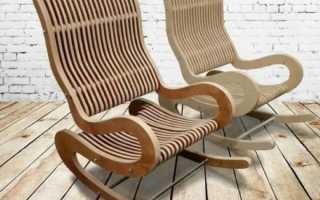 Кресло-качалка из фанеры. Шаблоны деталей для листа 1300х1800