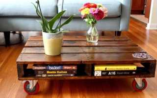 Необычный журнальный столик своими руками (фото, чертежи)