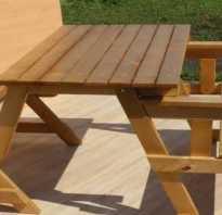 Как самому сделать деревянную скамью-трансформер