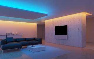 Крутое освещение комнаты светодиодной лентой