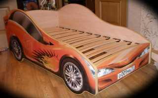 Кровать машина своими руками: чертежи, фото изготовления