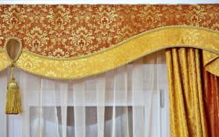 Как сшить шторы с ламбрекенами своими руками (выкройки, фото)