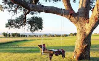 Деревянные качели (подвесная скамья) на дачу своими руками