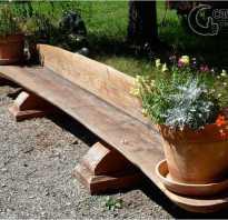 Скамейка из дерева для дачи: пошаговое изготовление